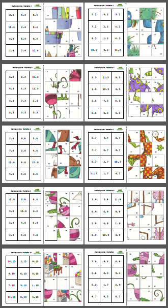 Mompitziges Rechenpuzzle – Malreihe - - | Matikka | Pinterest | Math ...