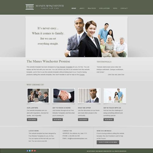 Ready - Law firm website template Free Website Templates - legal - resume website template