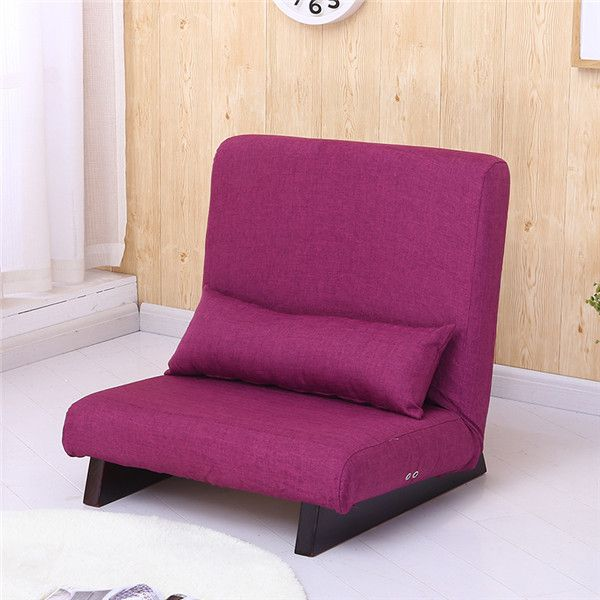 Floor Foldable Single Sofa Reclining Modern Fabric Japanese Sofa ...