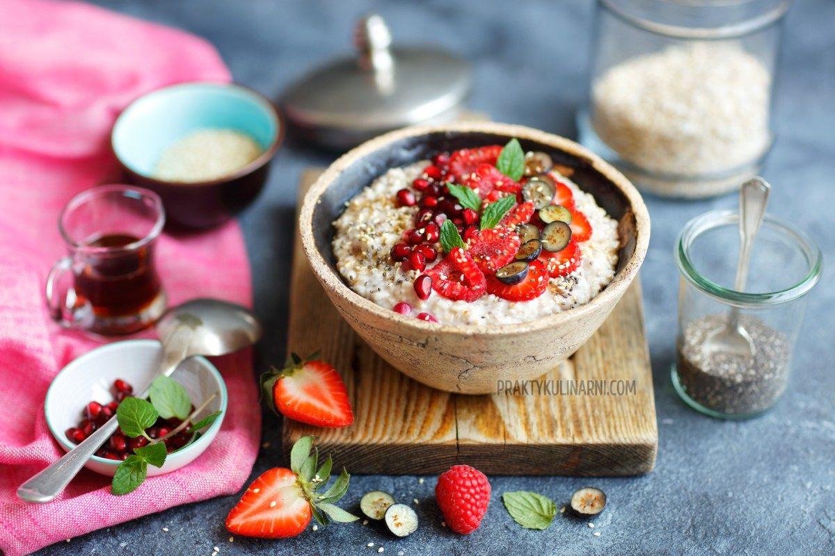 Owsianka Kokosowa Z Chia Weganskie Sniadanie Food Vegan Recipes Breakfast
