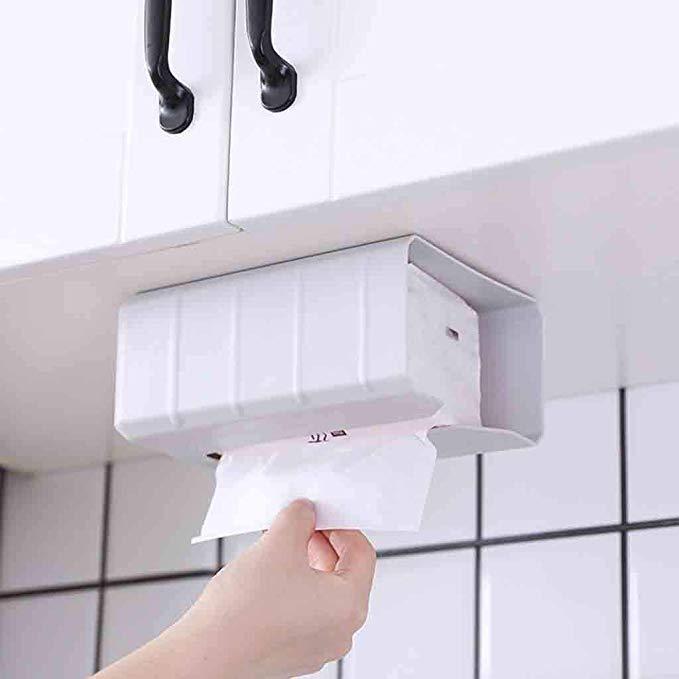 Amazon Com Quaanti Adhesive Tissue Box Cover Holder Wall Mounted
