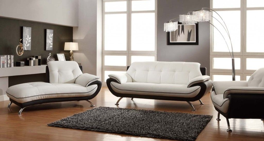Black And White Sofa Set