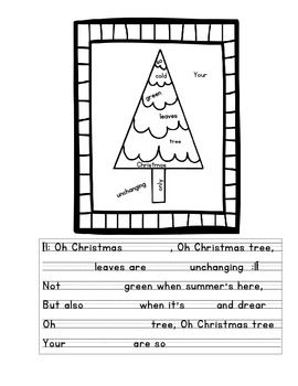 Six Christmas Carols For Students To Complete Using Words Hidden In A Fun Coloring Page The Include Oh Tree Silent Night Jingle Bells