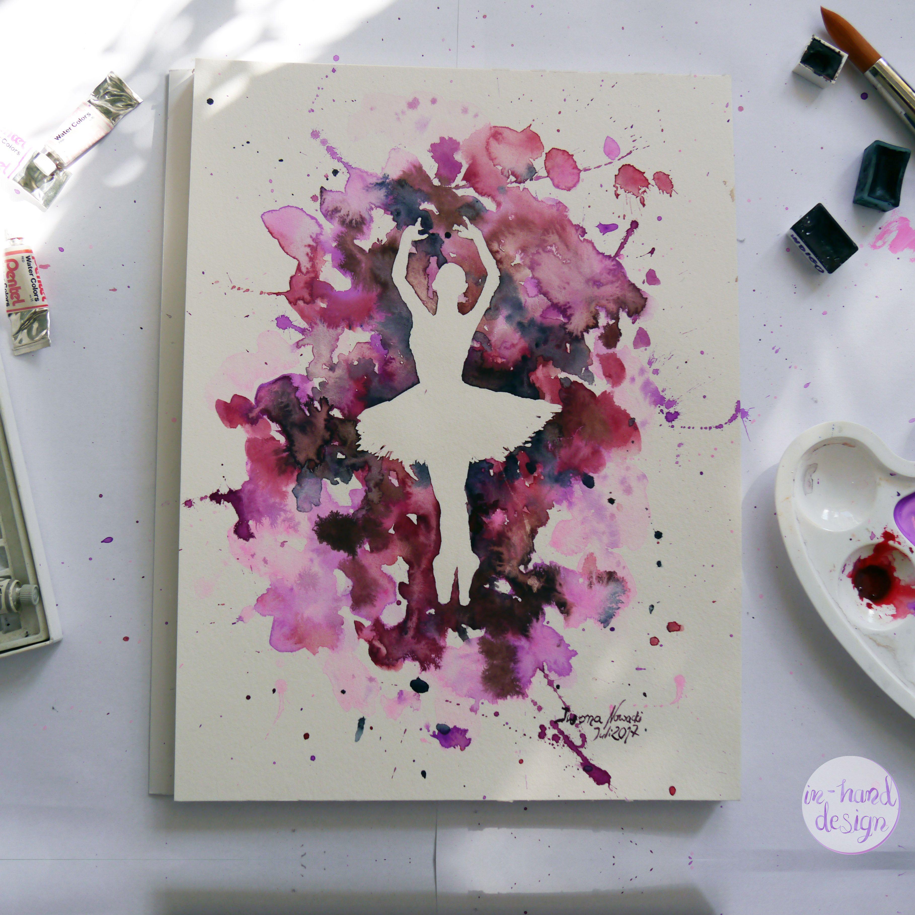 Ballerina In Aquarell Ein Effektvolles Bild Malen Ballerina