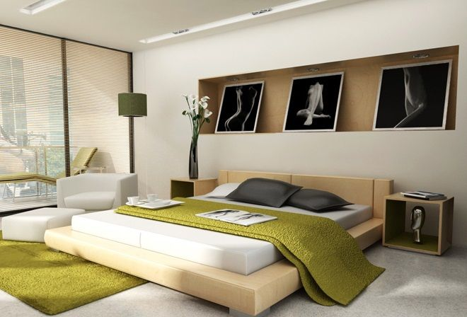 Modern Bedroom Green modern green bedroom | shoe800