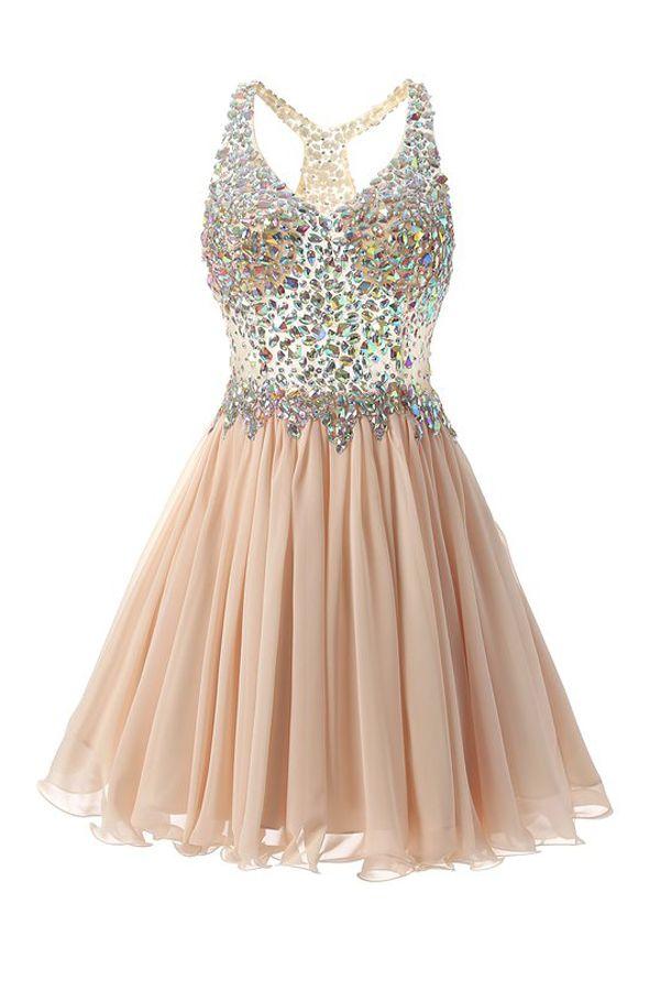 a432d5f5c8a Chiffon Lace Strap Sweetheart Beading Pretty Short Prom Dresses ...