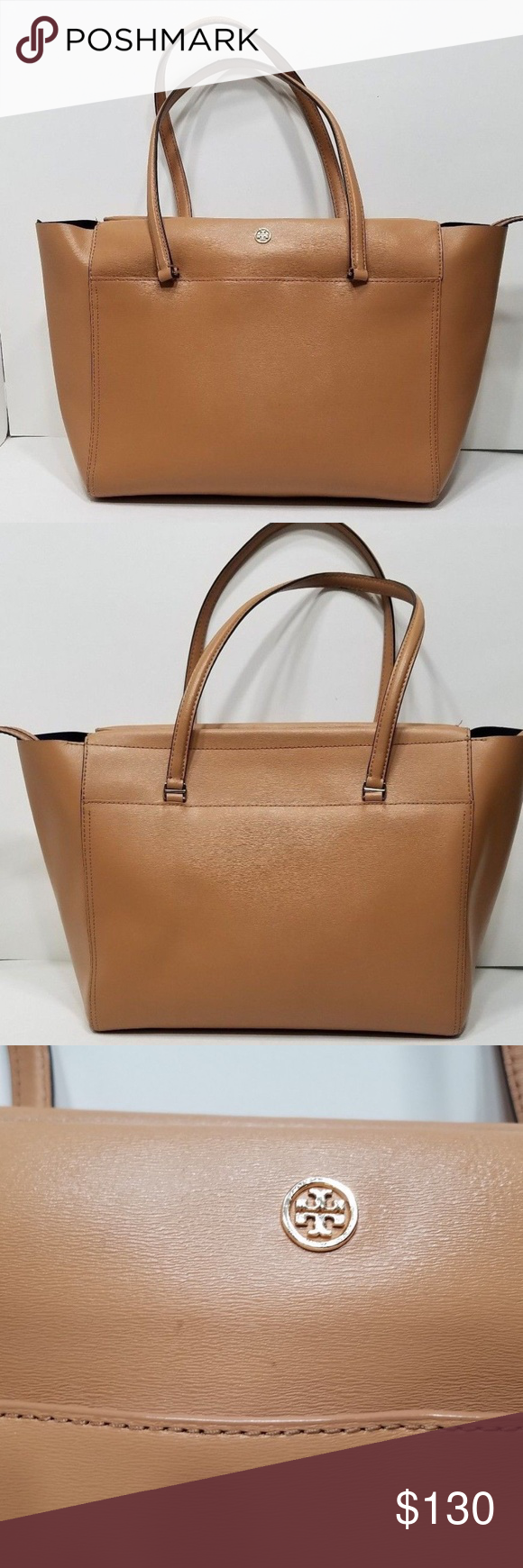 Tory Burch Parker Tote Handbag Purse Saffiano Leather