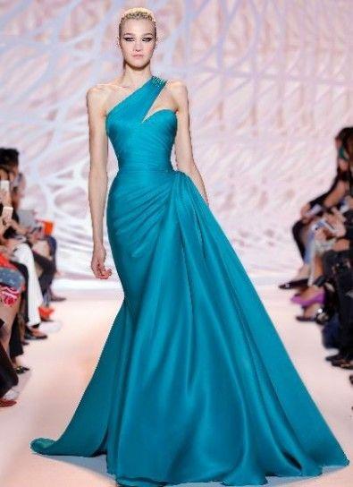 separation shoes 9c242 21294 Vestito azzurro con drappeggo Zuhair Murad | moda e ...
