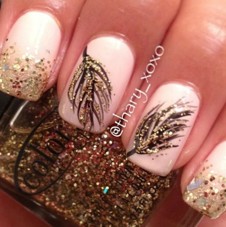Fall Inspired Nail Art Makeuphairnails Beauty Pinterest