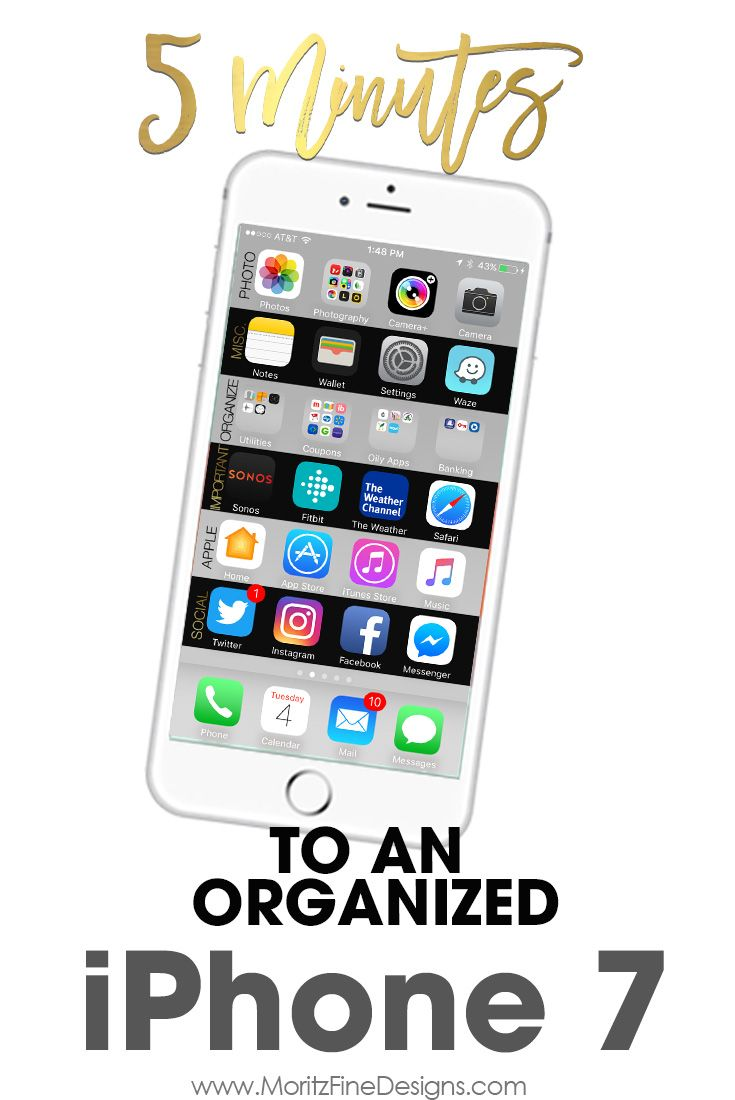 Organize your iPhone 7 in Just Minutes | Apple iphone & iPad Mini ...