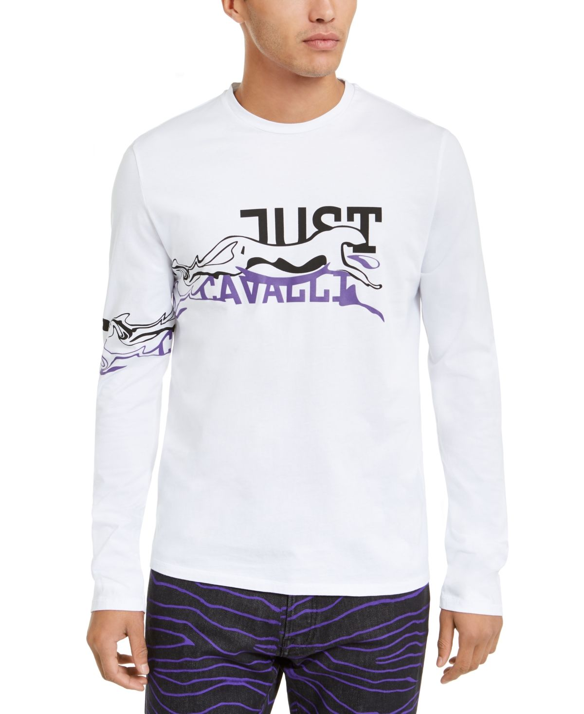 Just Cavalli Mens Graphic Sweatshirt