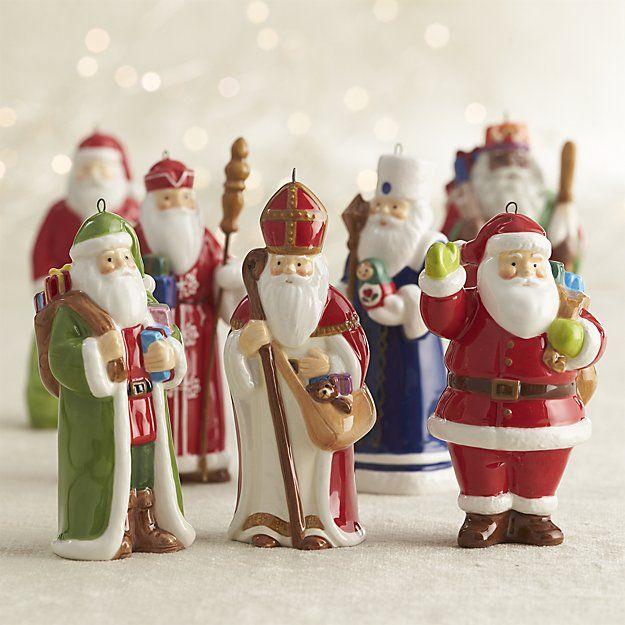 Around the World Santa Russia Ornament | Crate and Barrel | Christmas tree ornaments, Santa ...