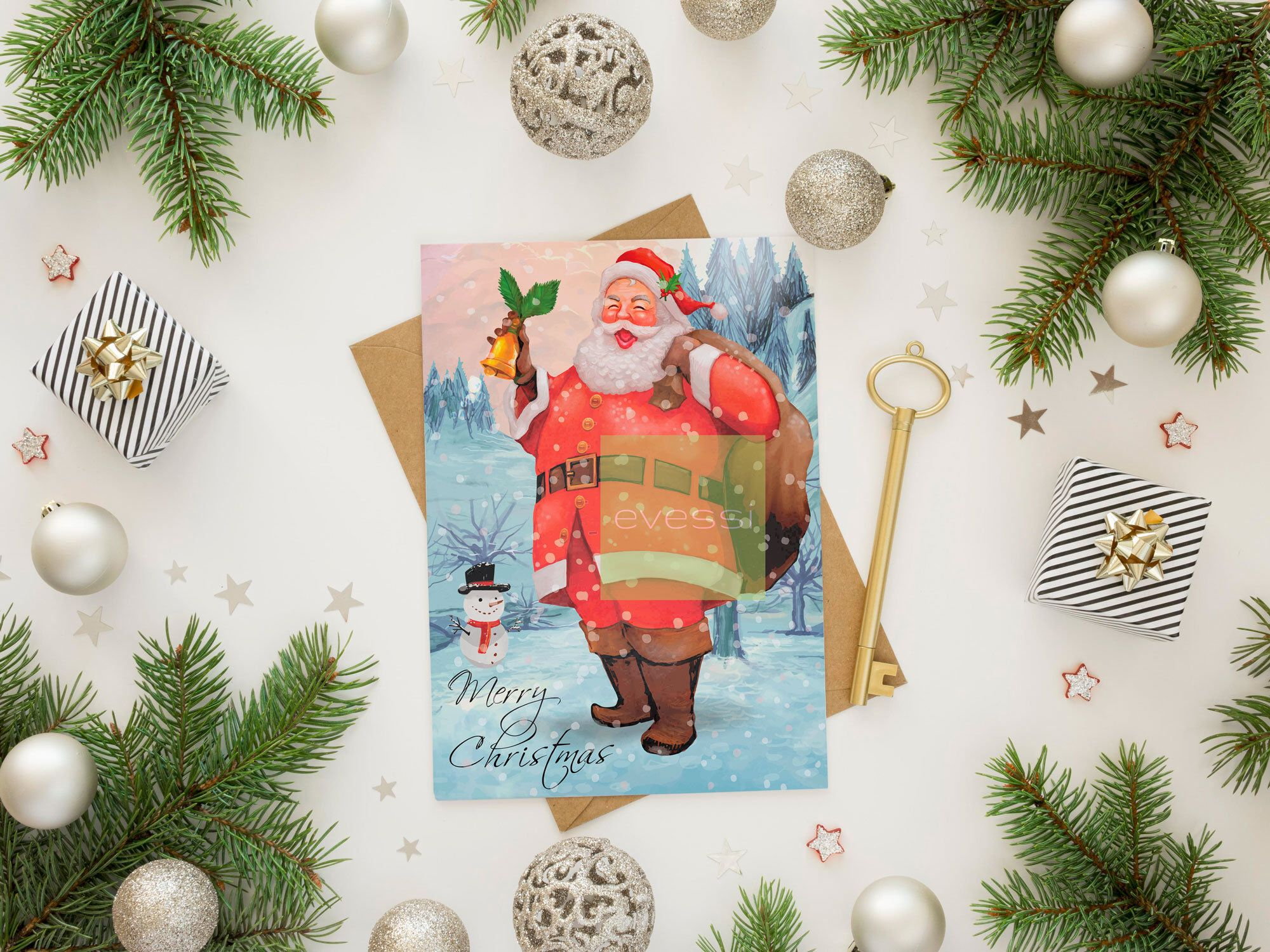 Christmas Card Digital Download Christmas Card Printable Santa Claus Card Merry Christmas Card Printable Chri Digital Christmas Cards Christmas Cards Cards