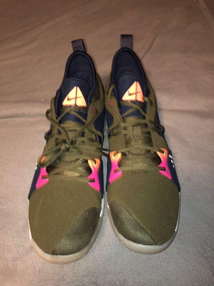 Nike PG2 ACG Olive Free Shipping Size 14  fashion  clothing  shoes . e332383c9