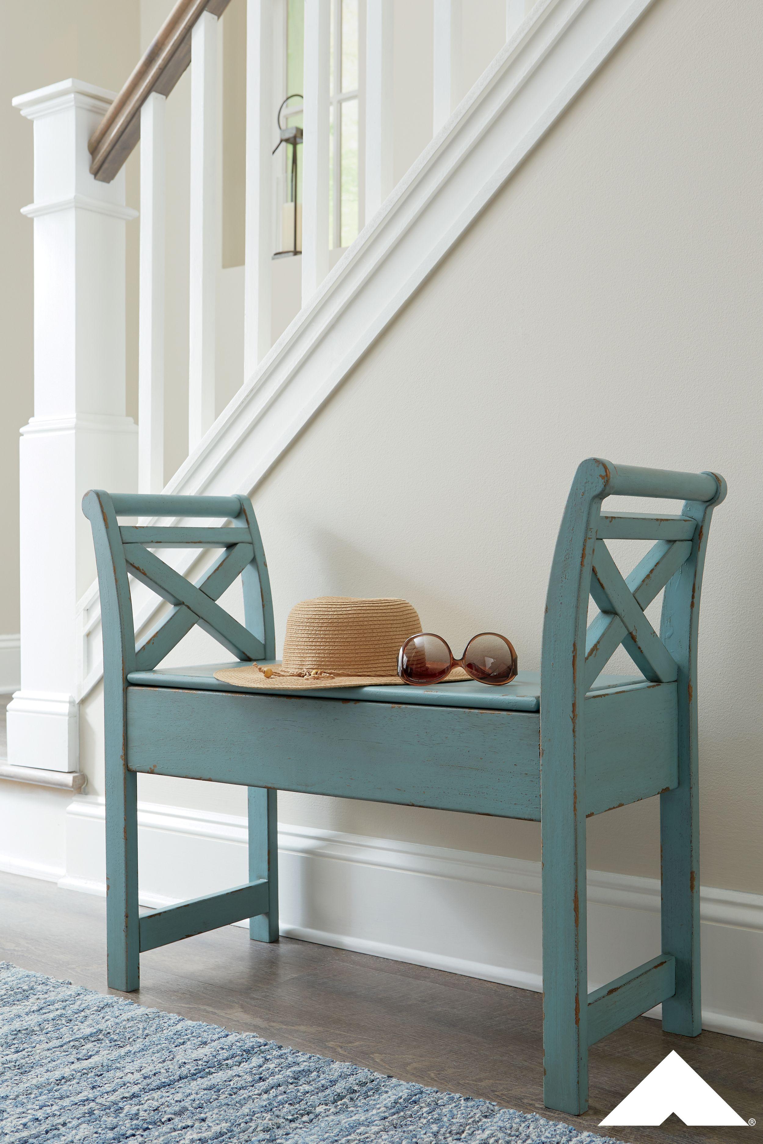 Heron Ridge Blue Accent Bench By Ashley Furniture Ashleyfurniture Homedecor Summerstyle