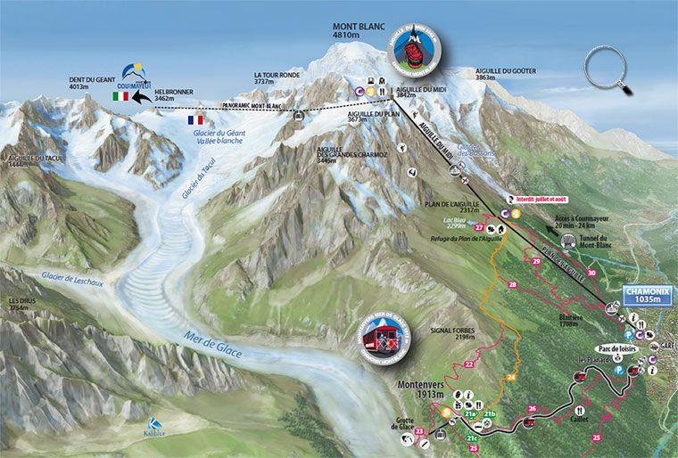 Aiguille Du Midi Map Chamonix Mont Blanc Aiguille Du Midi Lifts French Alps France Travel Alps