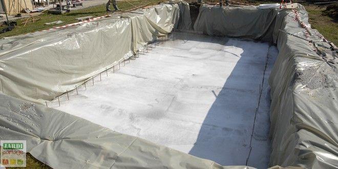 La dalle de fond de la piscine Architecture - realiser une piscine en beton