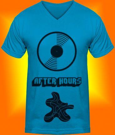 After Hours Camiseta color aguamarina , manga corta y cuello en V
