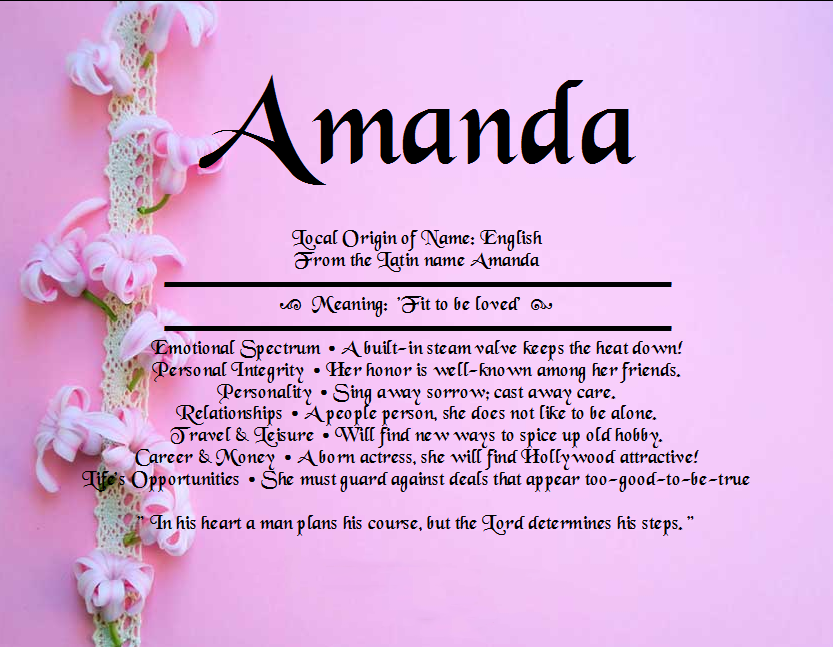 All about Amanda name Names with meaning, Names, Amanda
