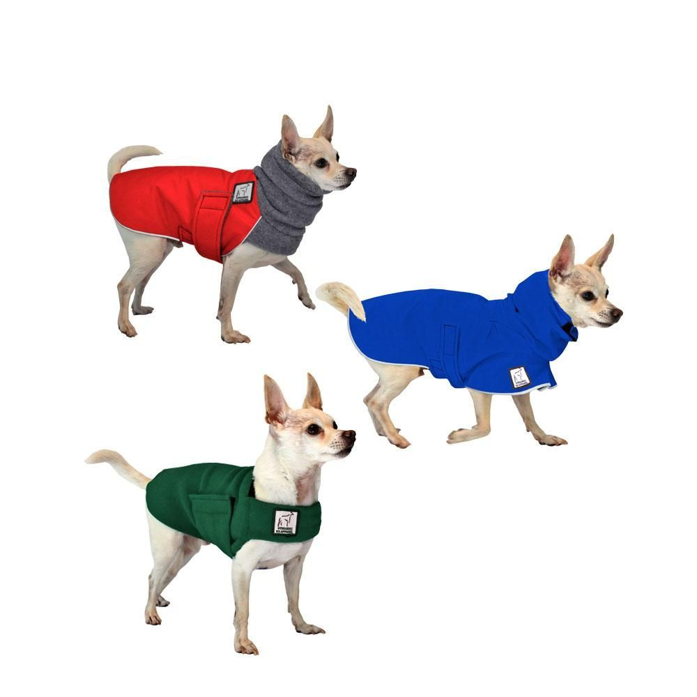 All Weather Combo Dog Clothing Set Includes Chihuahua Winter Coat
