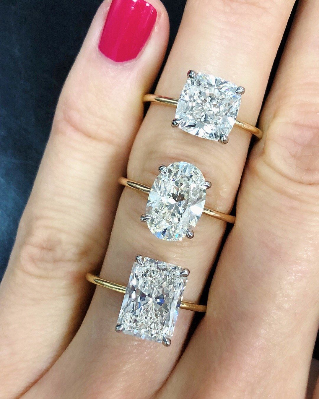 The Diamond Is Sure To Take Center Stage On This Whisper Thin Band Diamonds Available In All Shapes Sizes And Qualities Setting Platinum Or