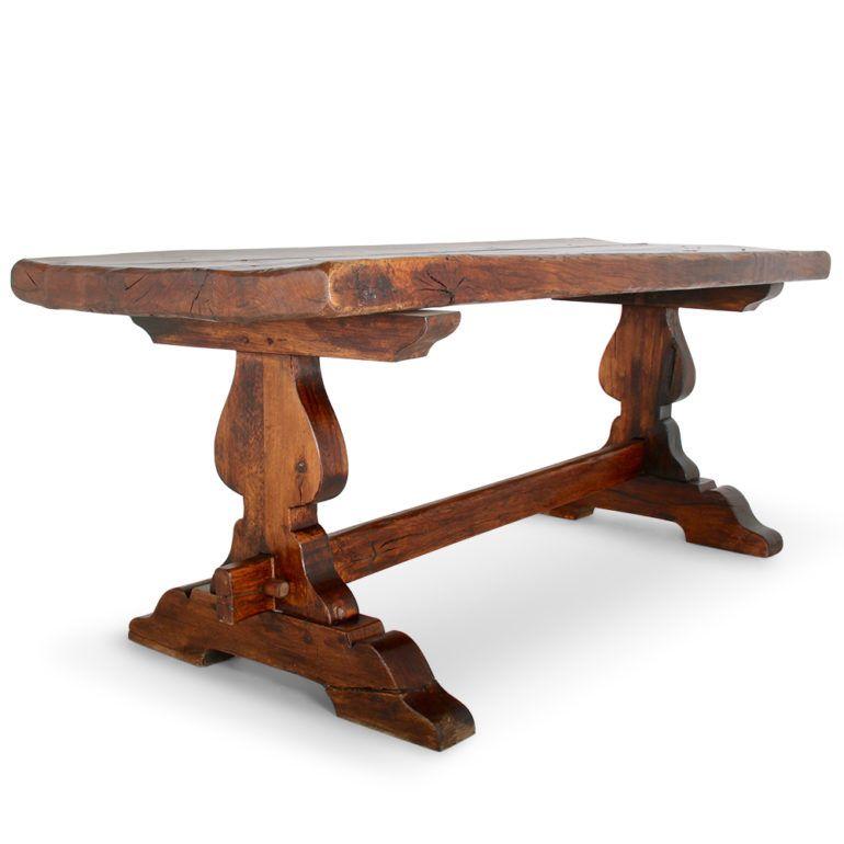 French Plank Oak Trestle Table C Gd Antique Warehouse Trestle