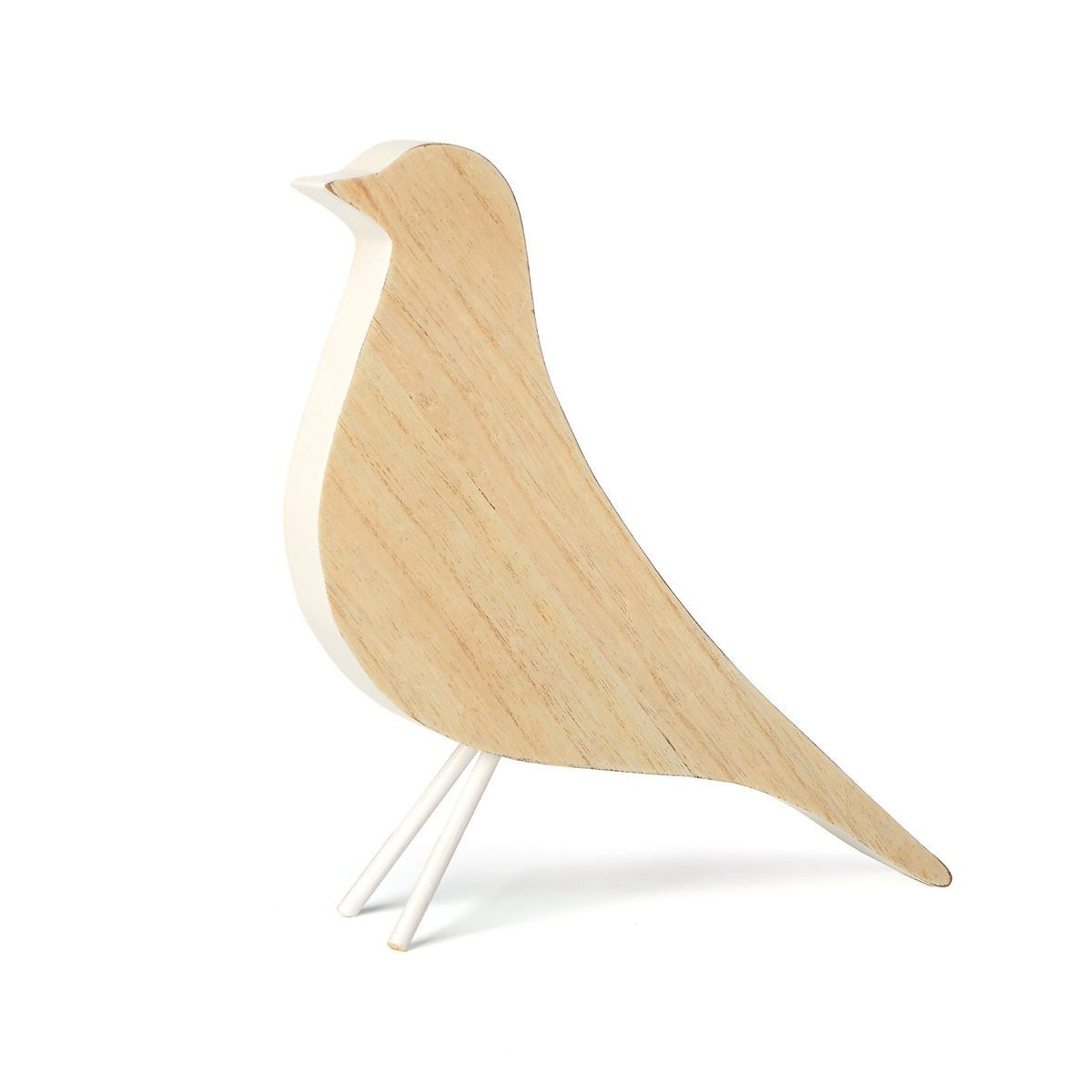 Dekofigur Vogel Holz Weiß H20 Cmdekofigur Vogel Holz Weiß H20 Cm