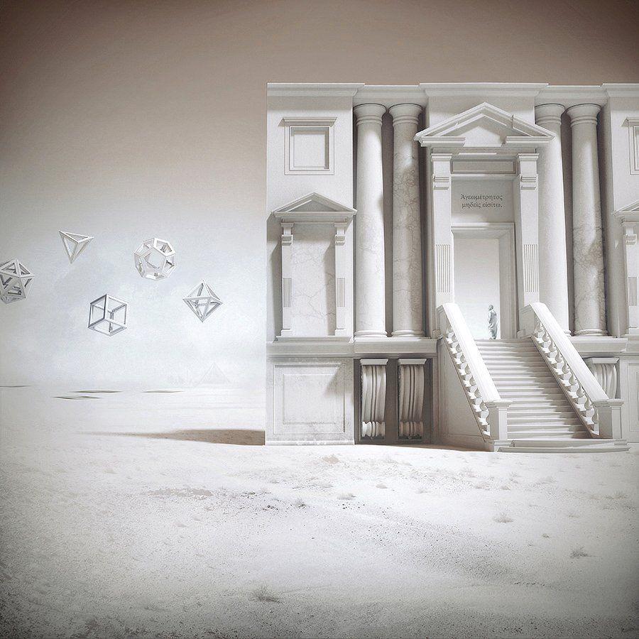 """MICHELE DURAZZI – LA IMAGINACIÓN Y LA ALEGRÍA -   (...) La imaginación -esa génesis de la alegría- es un esfuerzo. La durísima batalla de unos cuantos """"desquiciados"""" buscando darle un sentido a un mundo que no tiene ninguno… -   #micheledurazzi #3d #architecture #art #classic #design #illustration #surreal #fantasyart"""