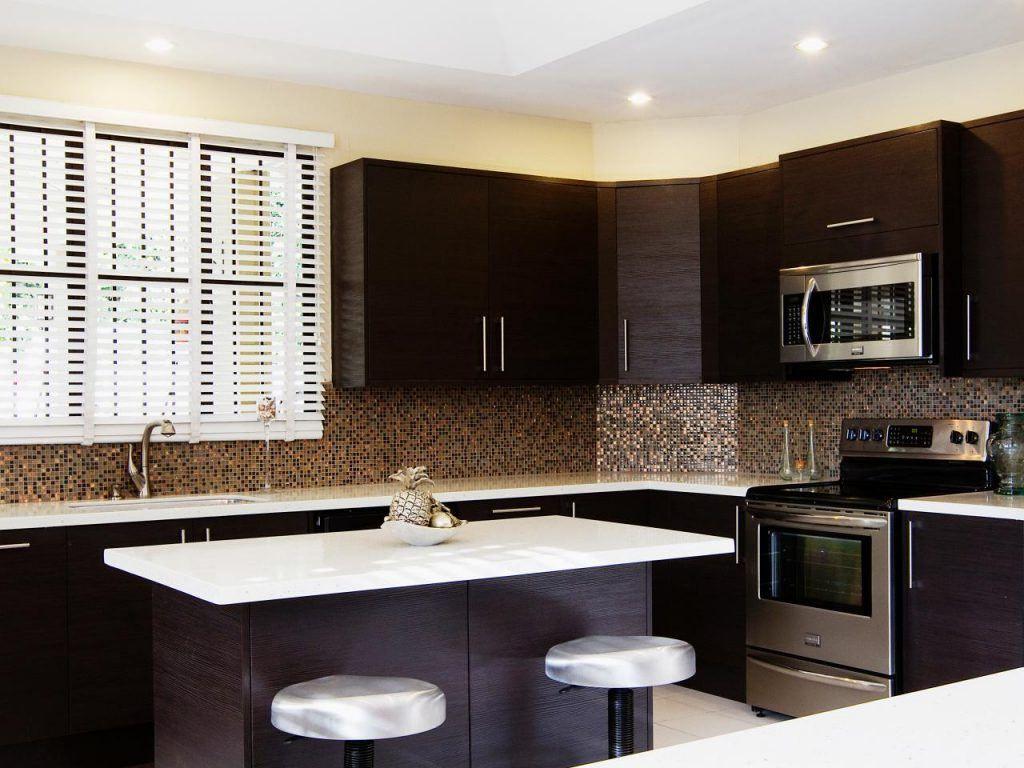 Kitchen Backsplash With Dark Cabinets Country
