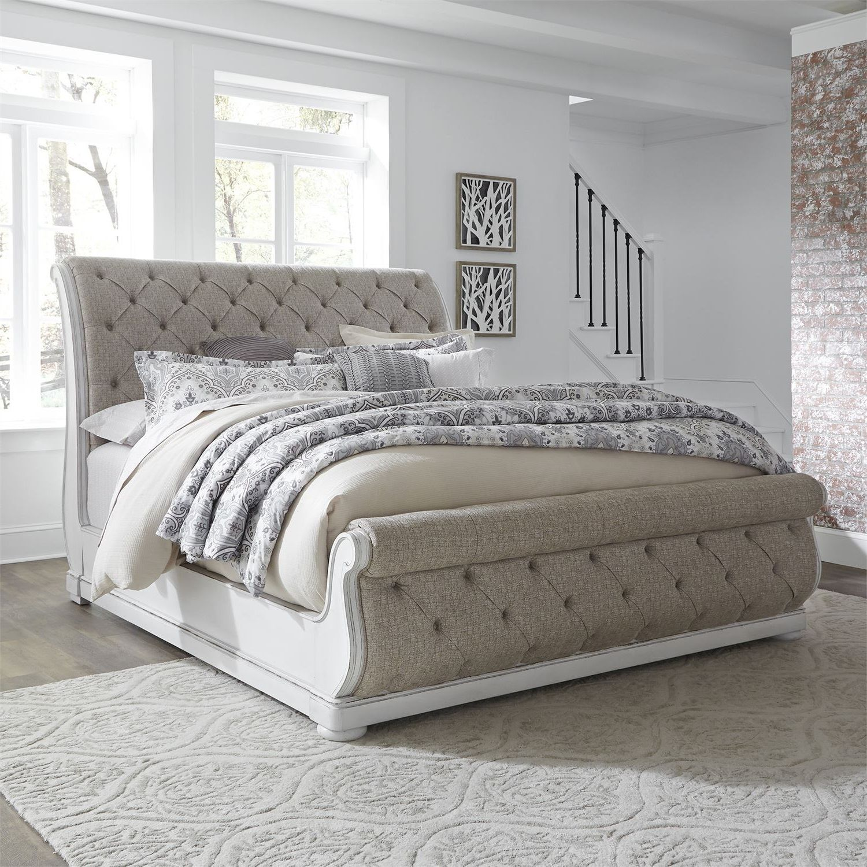 Elizabeth Upholstered Sleigh Bed