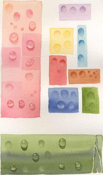 How to paint water drops or dew drops in watercolor