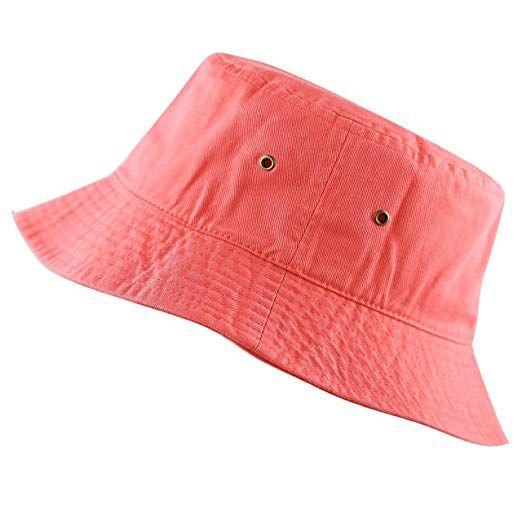 e10976e8632 THE HAT DEPOT 300N Unisex 100% Cotton Packable Summer Travel Bucket Hat (L