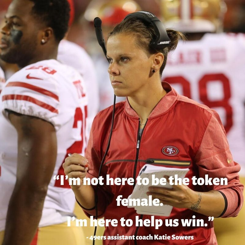 San Francisco 49ers assistant coach Katie Sowers is the