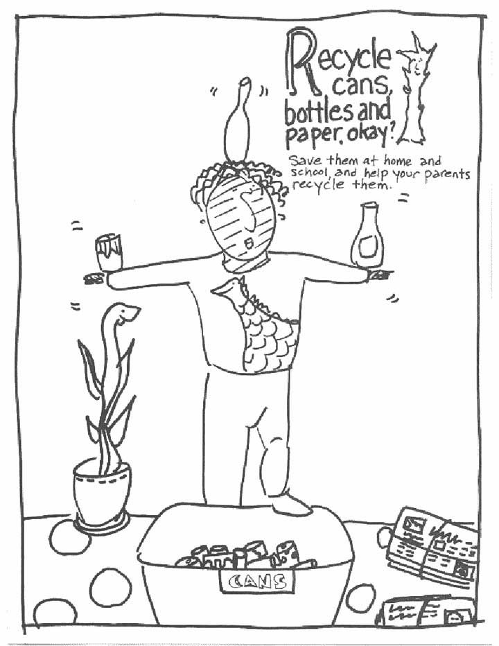 Free Recycle Coloring Pages, Download Free Clip Art, Free Clip Art ... | 932x720