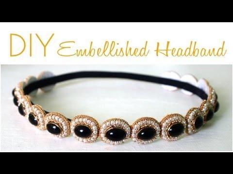 DIY Gatsby Inspired: How to DIY Great Gatsby Embellished Headband {Video Tutorial} DIY Hair Accessories