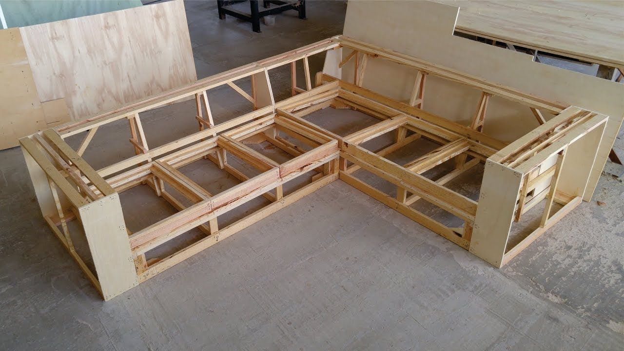 Making Wooden Frame For Corner Sofa Homemade Cushions On Bed