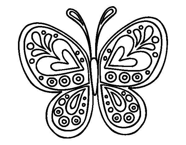 Desenho De Mandala Borboleta Para Colorir Borboletas Para