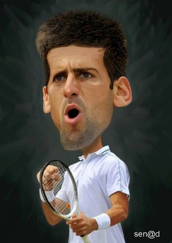 Novak Djokovic Tennis Celebrity Caricatures Funny Caricatures Caricature