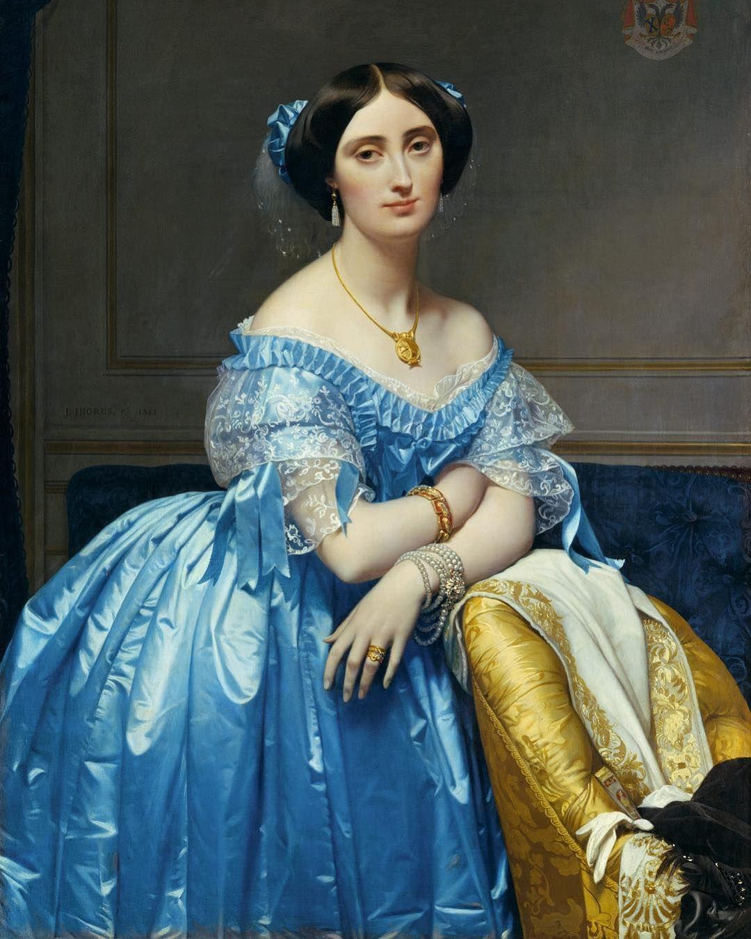 Portrait Of The Princesse De Broglie By French Painter Jean