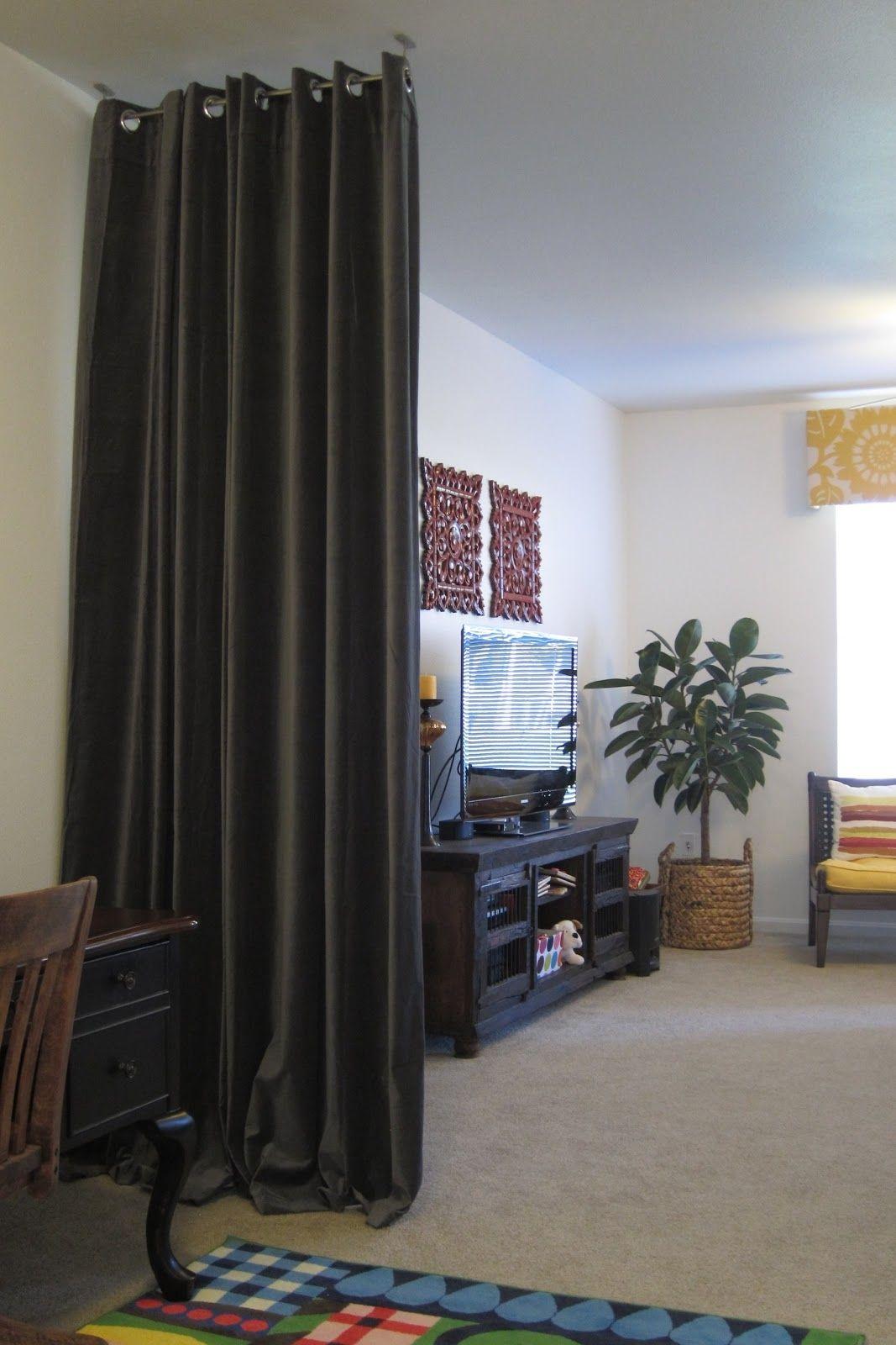 Curtain wall divider ideas bedroom pinterest wall
