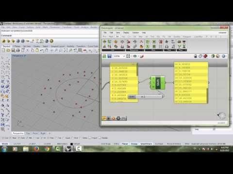 Grasshopper tutorial #19- (Lists, index & items)   RH-GH