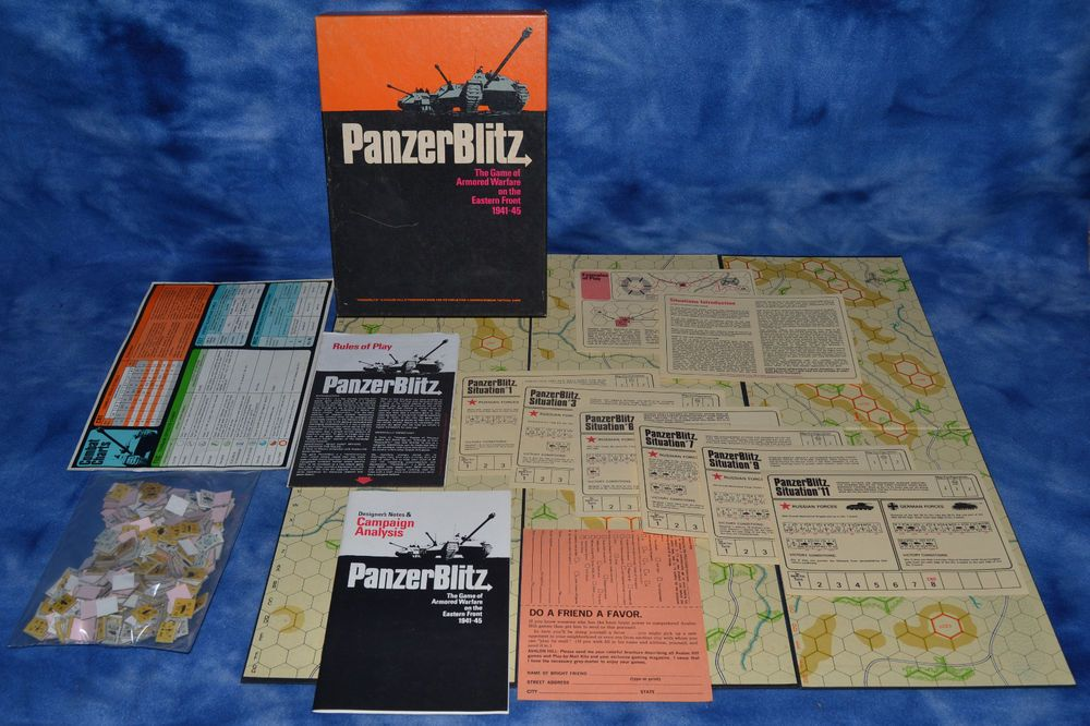Panzer Blitz 1970 Avalon Hill Game of Armored Warfare WWII 1941-45 ...