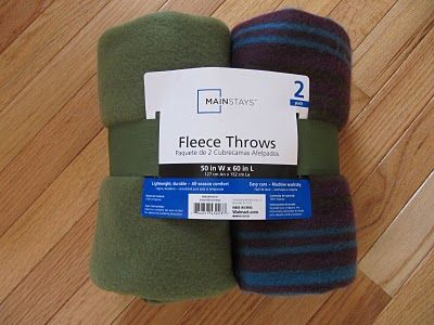 no sew tree skirt using a walmart fleece blanket for 500 hot glue on embellishments - Walmart Christmas Tree Skirts