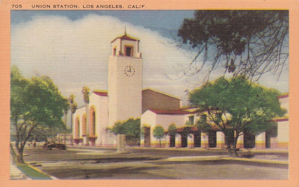 California Ca Los Angeles Union Station Postcard Old Vintage Card Postcard Union Station Los Angeles