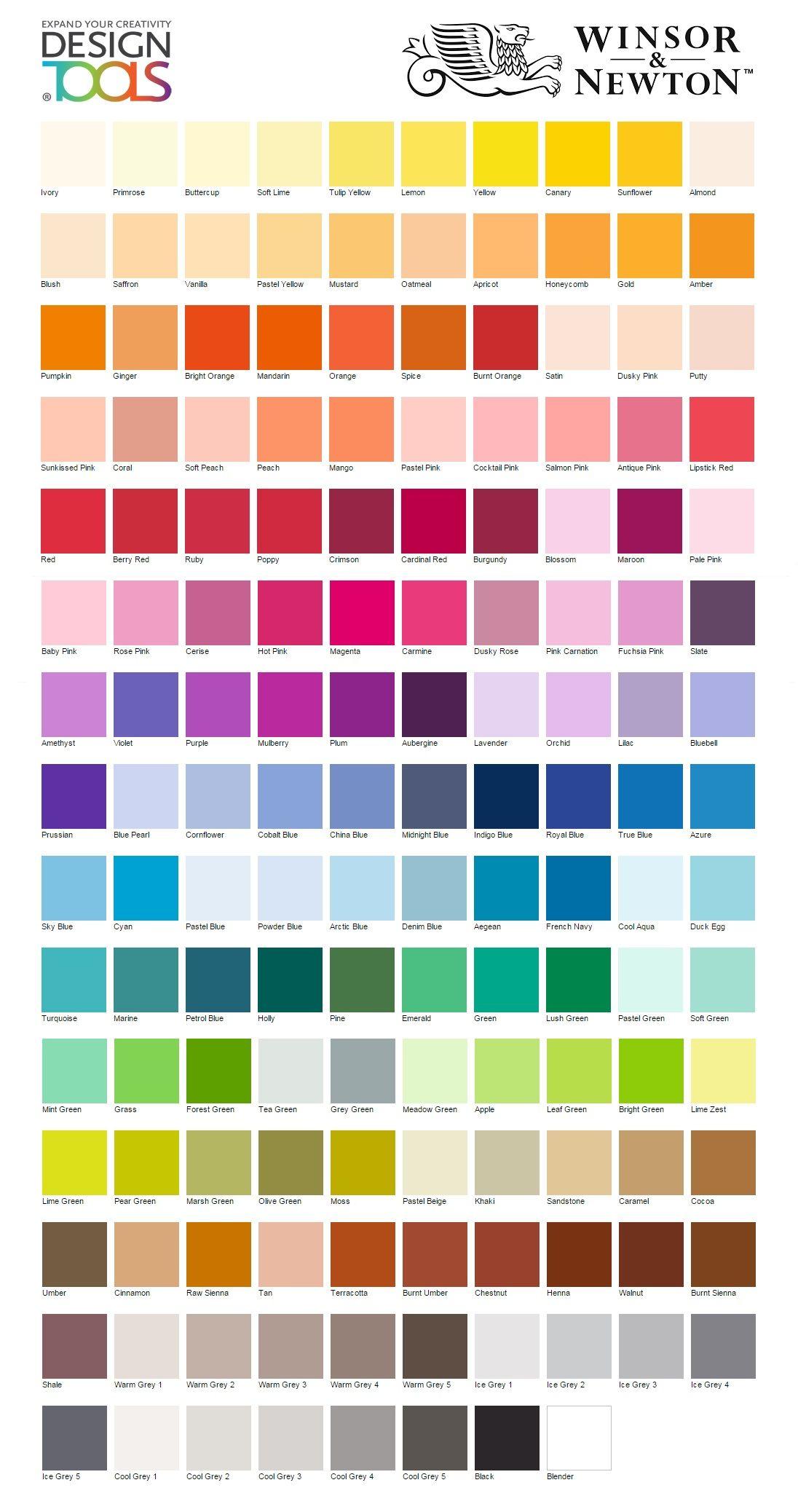 Winsor Newton Promarker Colour Palette Art Du Marqueur Carnet