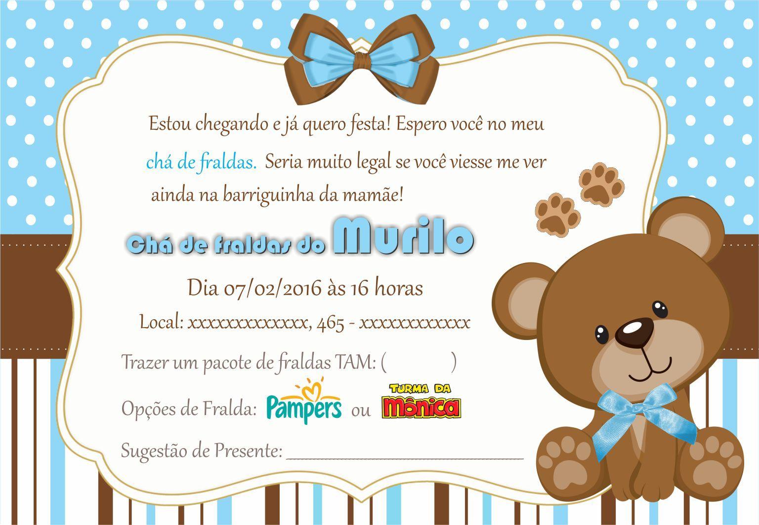Mensagem De Convite De Cha De Fralda: Resultado De Imagem Para Convite Chá De Bebê Fraldas