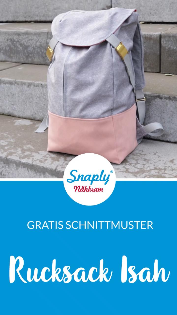 """Photo of Kostenloses Schnittmuster: Rucksack """"Isah"""" nähen"""