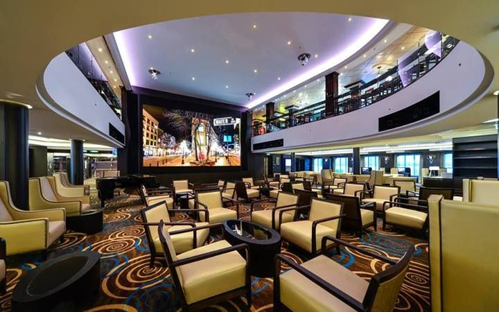 The atrium is open to 2 decks and is a great place to enjoy a cocktail, entertainment or coffee and pastries with new friends #NorwegianGetaway enjoy 7 night cruises from Miami to the Caribbean for the #ultimategetaway