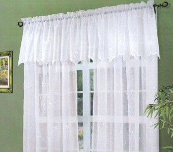 Curtain Bath Outlet Roslyn Embroidered Sheer Curtain Panel