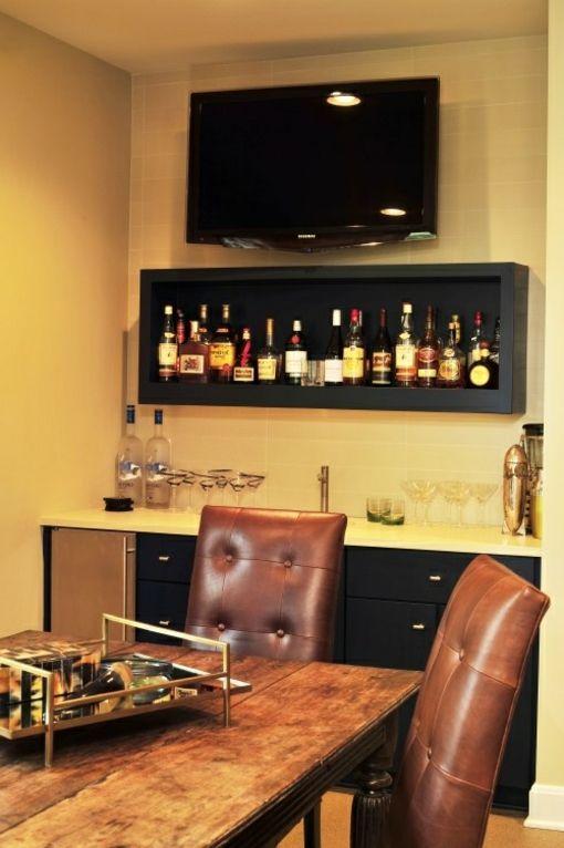 bartresen für zuhause regal mit alkoholflaschen (esszimmer - bar fürs wohnzimmer